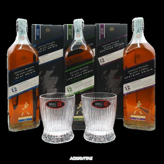 Whisky Johnnie Walker Black Label Tris Origin - Set Degustazione Whisky Blended Whisky scozzese