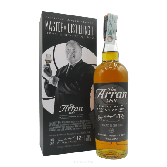 Whisky Arran Master of Distilling II James MacTaggart 12 Year Old Single Malt Scotch Whisky