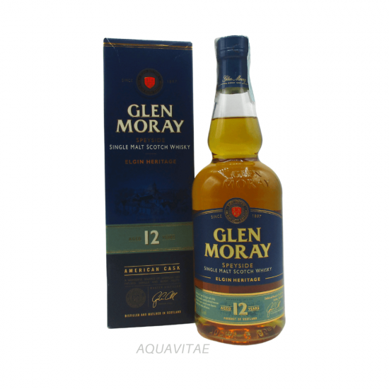 Whisky Glen Moray 12 Year Old Elgin Heritage Single Malt Scotch Whisky