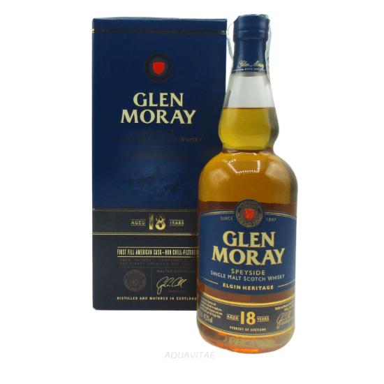 Whisky Glen Moray 18 Year Old Elgin Heritage Single Malt Scotch Whisky