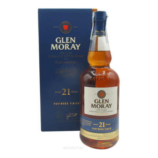 Whisky Glen Moray 21 Year Old Portwood Finish Single Malt Scotch Whisky