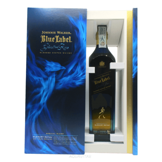 Whisky Johnnie Walker Blue Label Ghost And Rare Glenury Royal Whisky Scozzese Blended