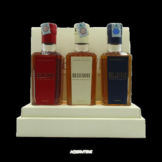 Whisky Bellevoye Cofanetto Degustazione (3 x 200ml) Whisky Francese Blended