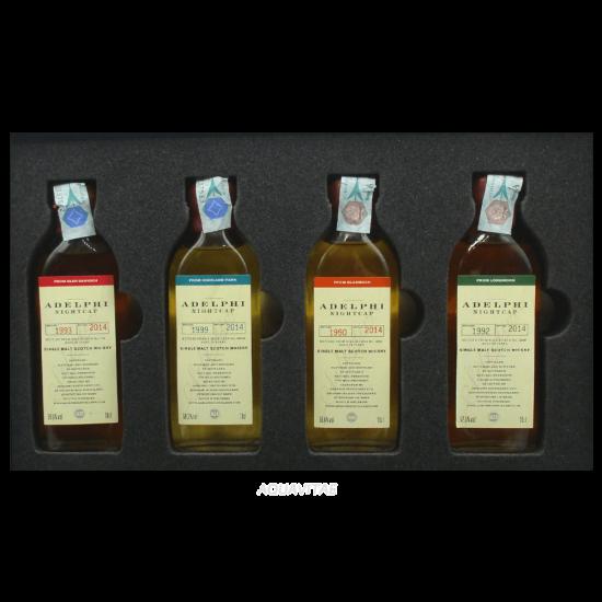 Whisky Adelphi Selection Set Degustazione Nightcap Batch 5 (4 x 100ml)  Whisky scozzese Single Malt
