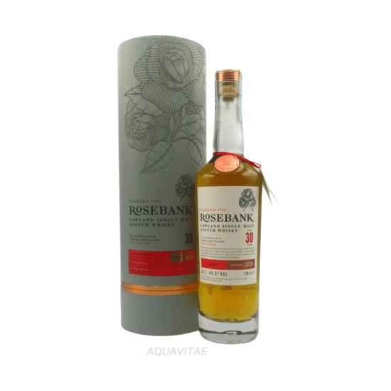 Whisky Rosebank 30 Year Old 1990 Vintage Release One Single Malt Scotch Whisky