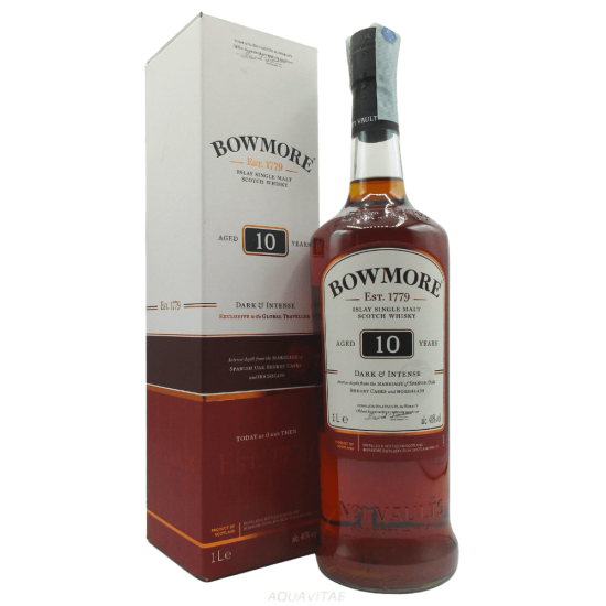 Whisky Bowmore 10 Year Old Dark e Intense (1L) Single Malt Scotch Whisky
