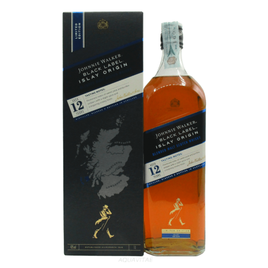 Whisky Johnnie Walker Black Label 12 Year Old Islay Origin (1L) Whisky Scozzese Blended