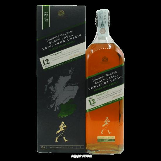Whisky Johnnie Walker Black Label 12 Year Old Lowlands Origin (1L) Whisky Scozzese Blended