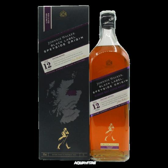 Whisky Johnnie Walker Black Label 12 Year Old Speyside Origin (1L) Whisky Scozzese Blended